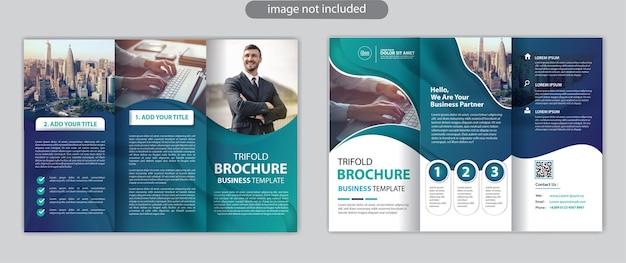 Ontwerpsjabloon voor zakelijke driebladige brochurelay-out