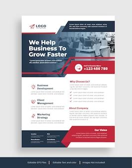 Ontwerpsjabloon voor zakelijke flyer