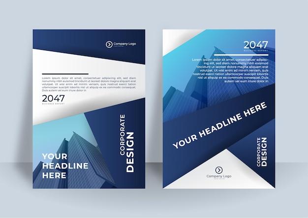 Ontwerpsjabloon voor zakelijke omslag. modern geometrisch posterontwerp.