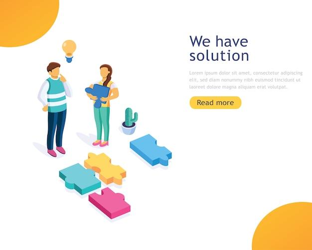 Ontwerpsjabloon zakelijke oplossingen