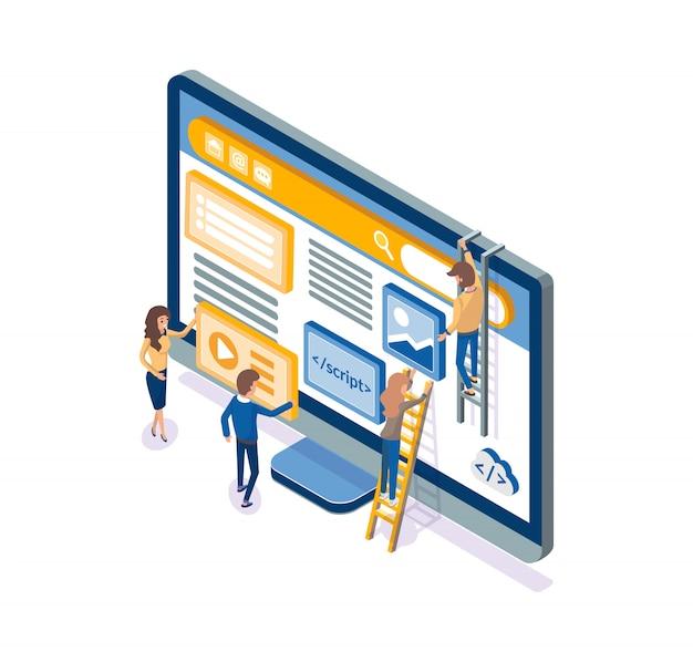 Ontwikkelaars die werken aan optimalisatie van webontwikkeling