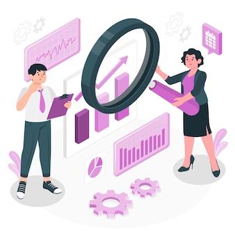 Ontwikkeling focus concept illustratie