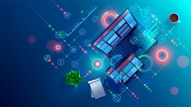 Ontwikkeling, programmeren van mobiele applicatiesoftware