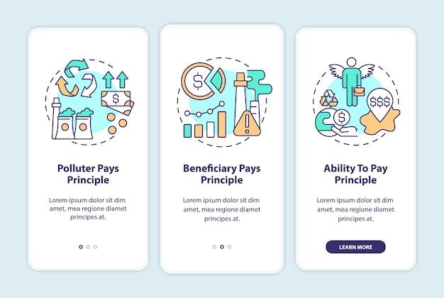 Ontwikkelingslanden introduceren het paginascherm van mobiele apps met concepten
