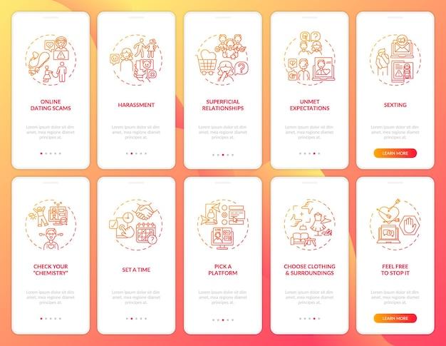 Onvervulde verwachtingen bij het onboarding van het mobiele app-paginascherm