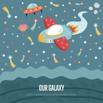Onze galaxy conceptuele illustratie