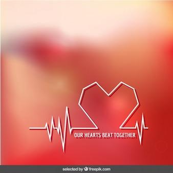 Onze harten slaan samen achtergrond