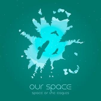 Onze ruimte - ruimte van de adelaarsillustratie