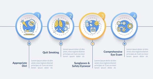 Ooggezondheid tips infographic sjabloon