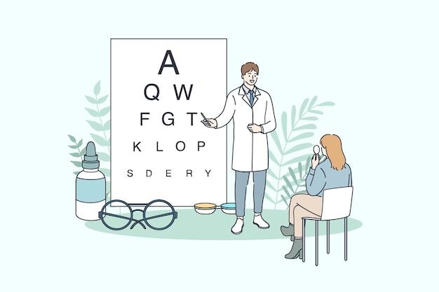 Oogheelkunde en oogarts concept.