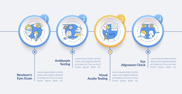 Oogonderzoek voor kinderen infographic sjabloon