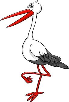 Ooievaar vogel dier karakter