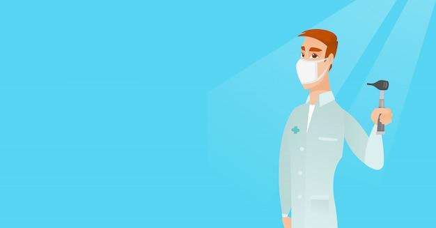 Oor neus keel dokter vectorillustratie.