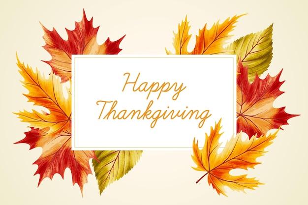 Oorlog gekleurde bladeren hand getrokken thanksgiving achtergrond