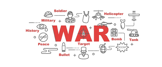 Oorlog vector banner