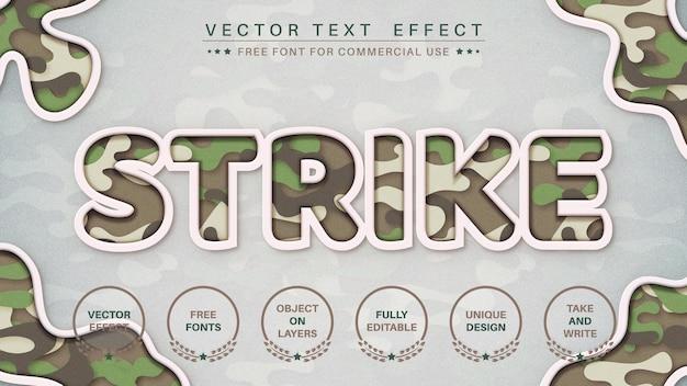 Oorlogsmilitair bewerk teksteffect