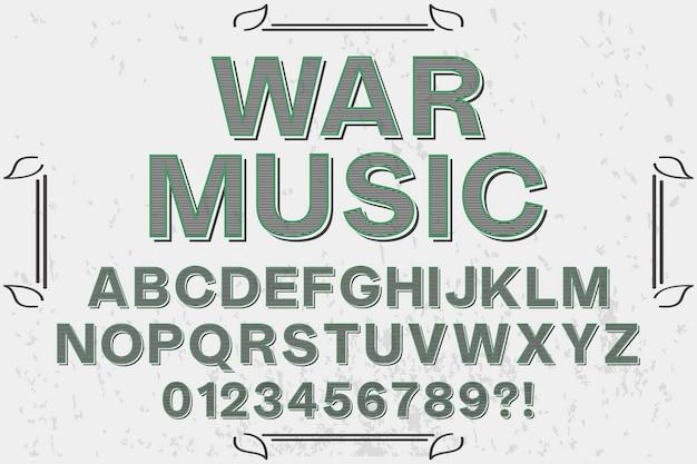Oorlogsmuziek alfabetisch belettering