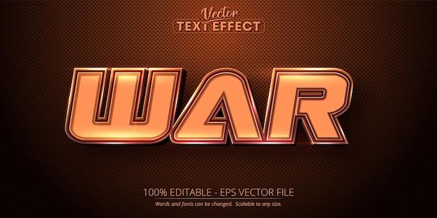Oorlogstekst bruine kleurstijl bewerkbaar teksteffect