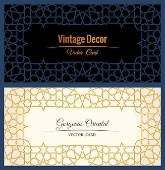 Oost-gouden arabische frames