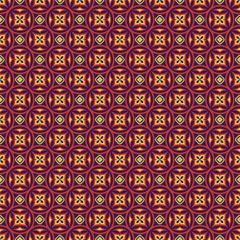 Oost-naadloze patroon in blauwe, rode en gele kleuren. kleurrijk oosters ornament.