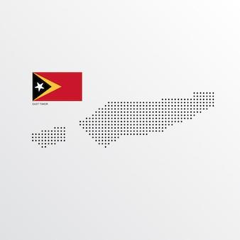 Oost-timor kaartontwerp