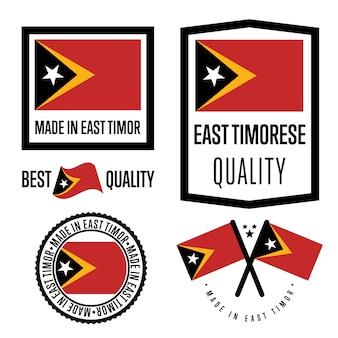 Oost-timor kwaliteitslabel set