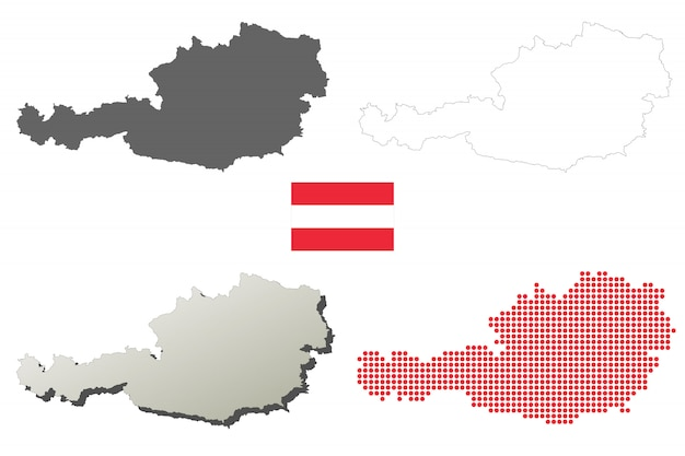 Oostenrijk vector overzicht kaart set