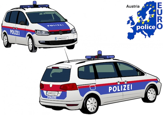 Oostenrijkse politie-auto