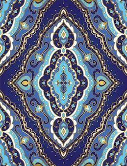 Oosters blauw patroon. vintage patroon.