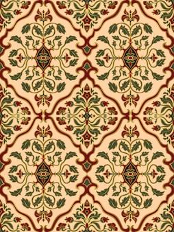 Oosters bloemenornament. sierpatroon voor tapijt, sjaal, behang, textiel.