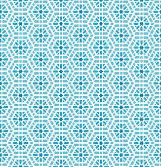 Oosters mozaïek naadloos patroon. kunstwerkachtergrond, tegelornament, ontwerpdecoratie, vectorillustratie