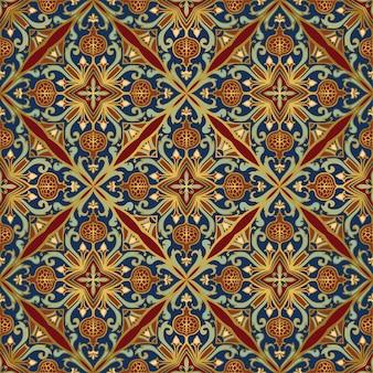 Oosters patroon met granaatappel.