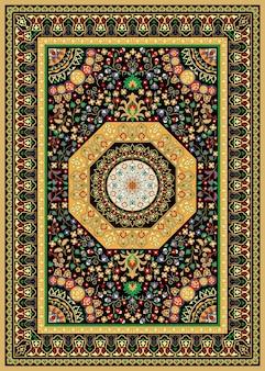Oosters perzisch turks tapijt klaar voor productie