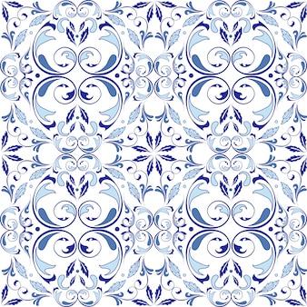 Oosters vectorpatroon met arabesqueselementen
