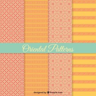 Oosterse decoratieve patronen set