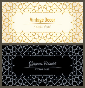 Oosterse gouden framelijnen ontwerpen ramadan lineair decor