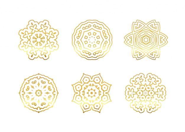 Oosterse gouden mandala's
