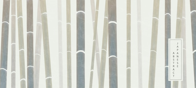 Oosterse japanse stijl abstracte patroon achtergrond ontwerp elegante natuur bamboe