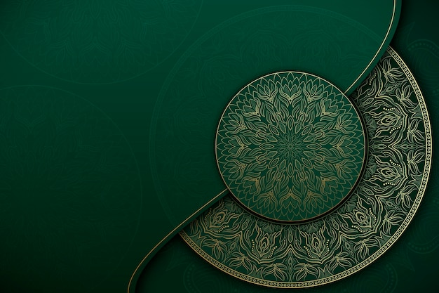 Oosterse mandala-achtergrond met lege ruimte