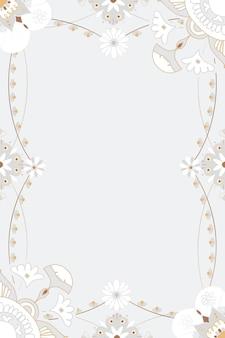Oosterse mandala frame bloemen