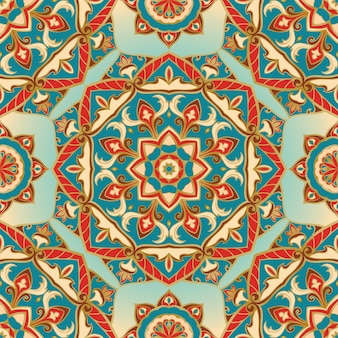Oosterse naadloze patroon van mandala's.