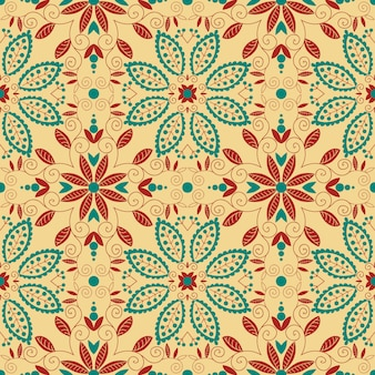 Oosterse traditionele sieraad. naadloze patroon