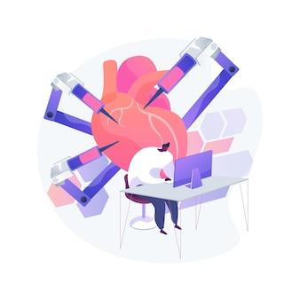 Op afstand bediende robots abstracte concept illustratie
