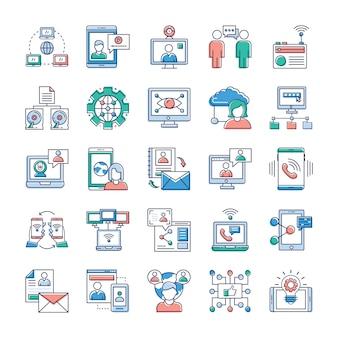 Op deze dag, het draait allemaal om snelle en snelle communicatie, we hopen dat u deze reclame- en communicatie- en netwerkvector-verzameling erg waardevol vindt voor uw stapel pictogrammen.