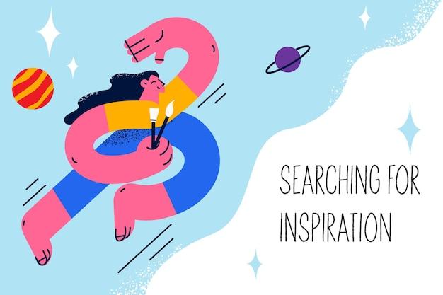 Op zoek naar inspiratie en ideeën concept