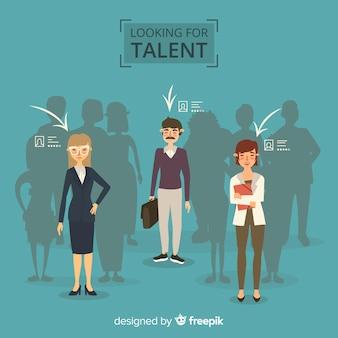 Op zoek naar talent achtergrond