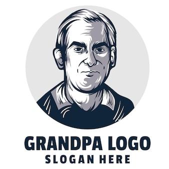 Opa cartoon logo vector