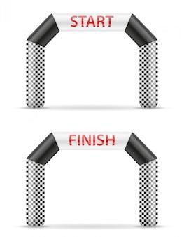 Opblaasbare lijn start finish voor sport.