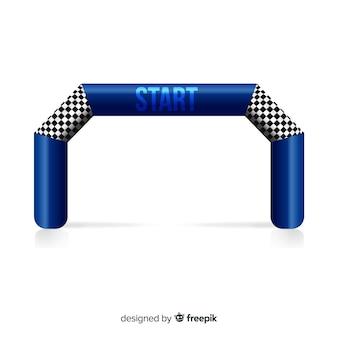 Opblaasbare startlijnboog met realistisch ontwerp