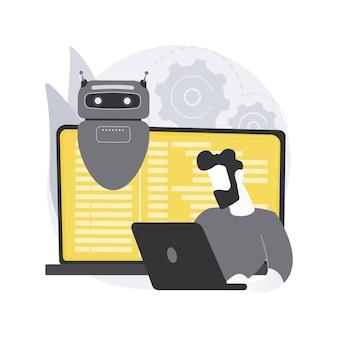 Open automatiseringsarchitectuur. softwarearchitectuur, open source-robotica, industriële zachte ontwikkeling, flexibele productie, automatisering.
